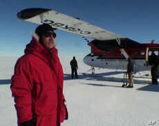 In 2008, expedition leader Robert Bindschadler was the first to set foot  on the Pine Island Glacier ice shelf.