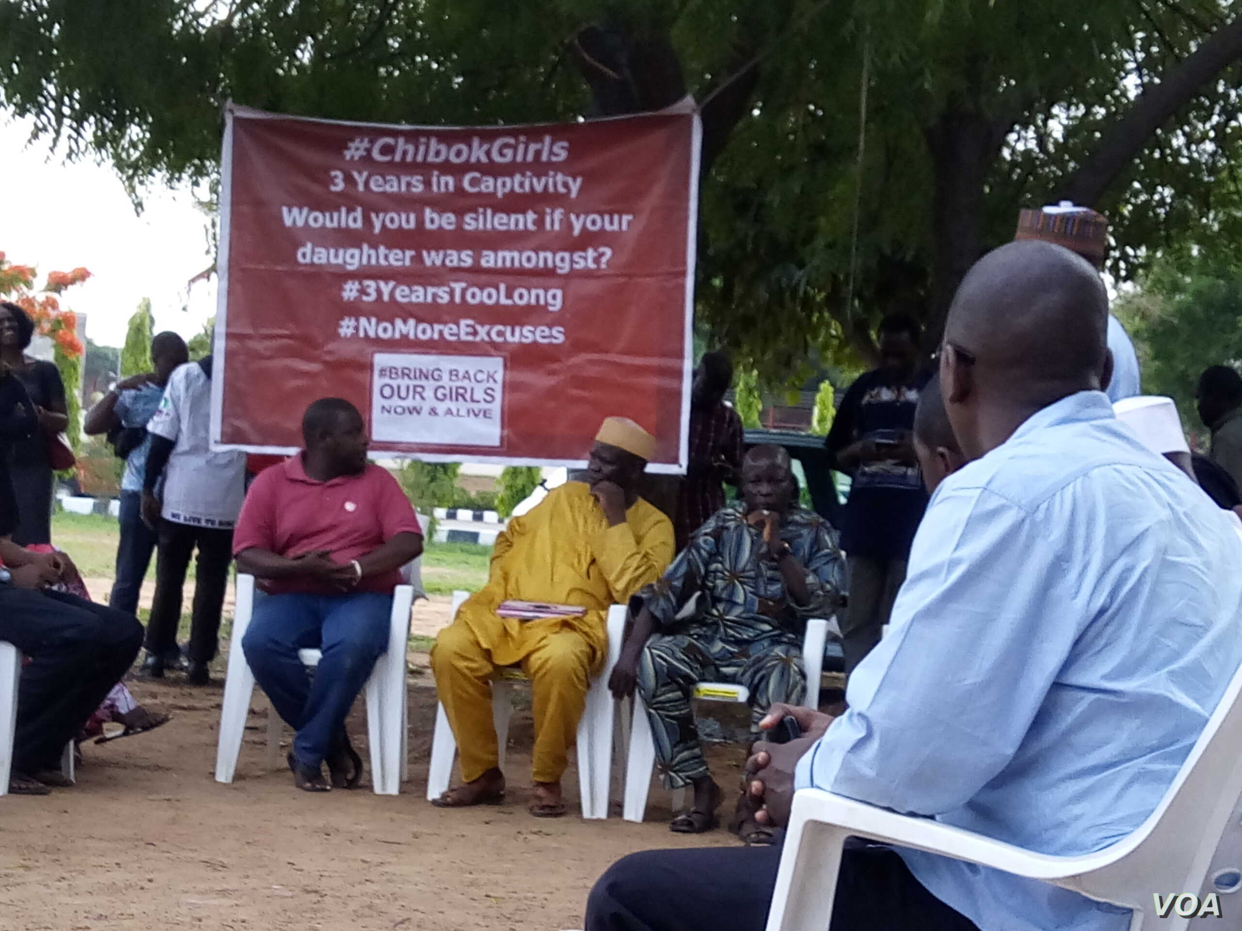 Dozens of members of the 'Bring Back Our Girls' Campaign hold a rally at Unity Fountain in Abuja to celebrate the release of 82 Chibok school girls in exchange for a number of Boko Haram militants and a reported cash payment.