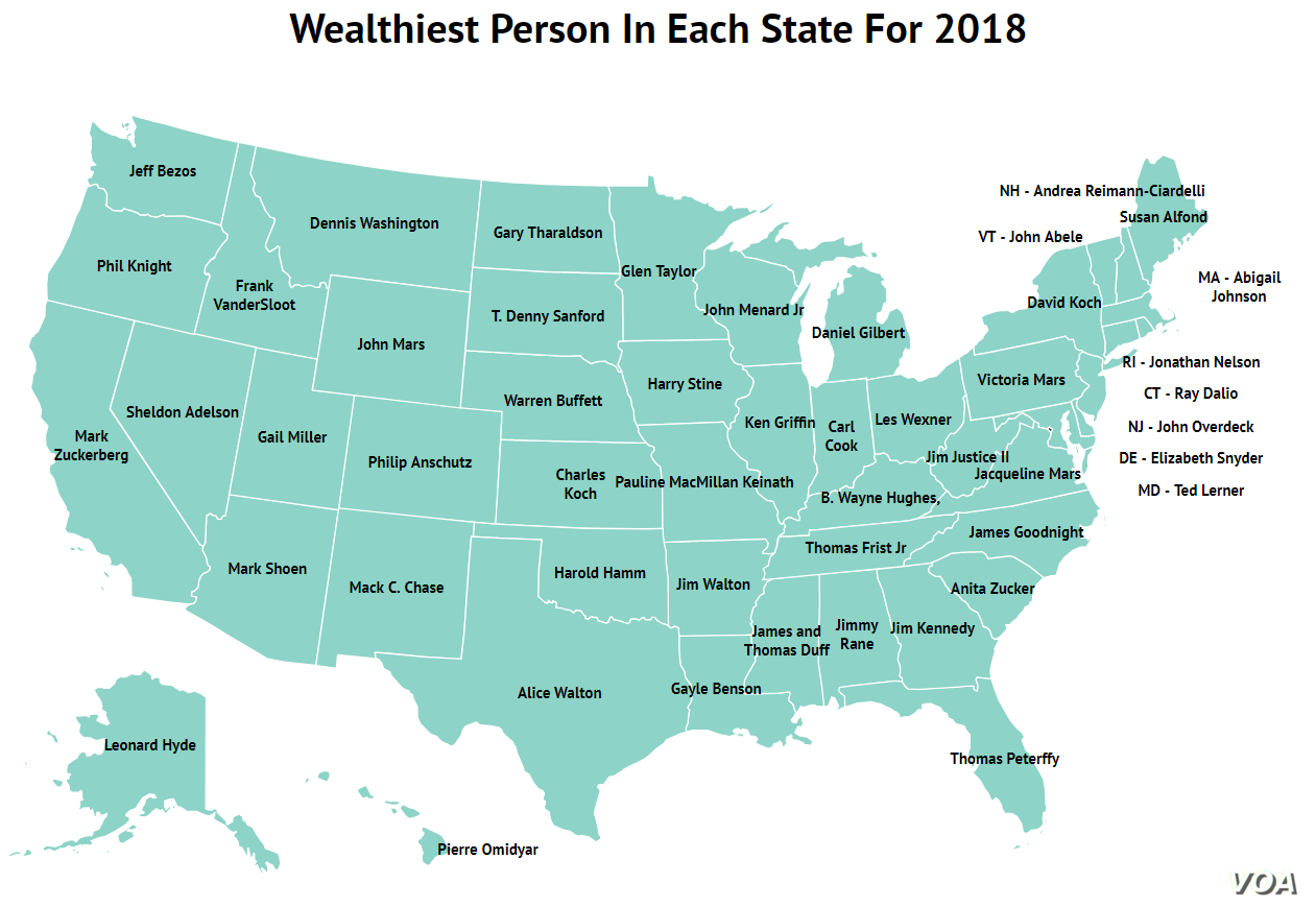 Information from Forbes/Map courtesy of Zippia