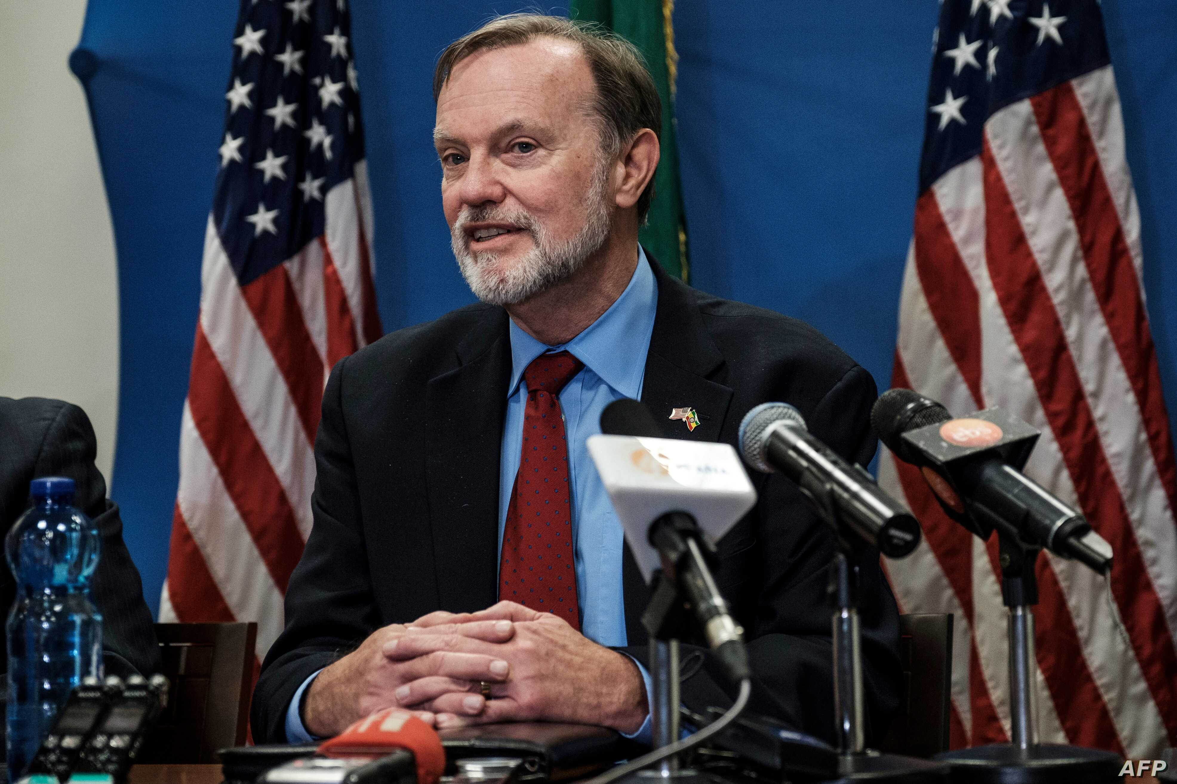 FILE - Assistant Secretary of State for African Affairs Tibor Nagy speaks during a press conference at the U.S. Embassy in Addis Ababa, Nov. 30, 2018.