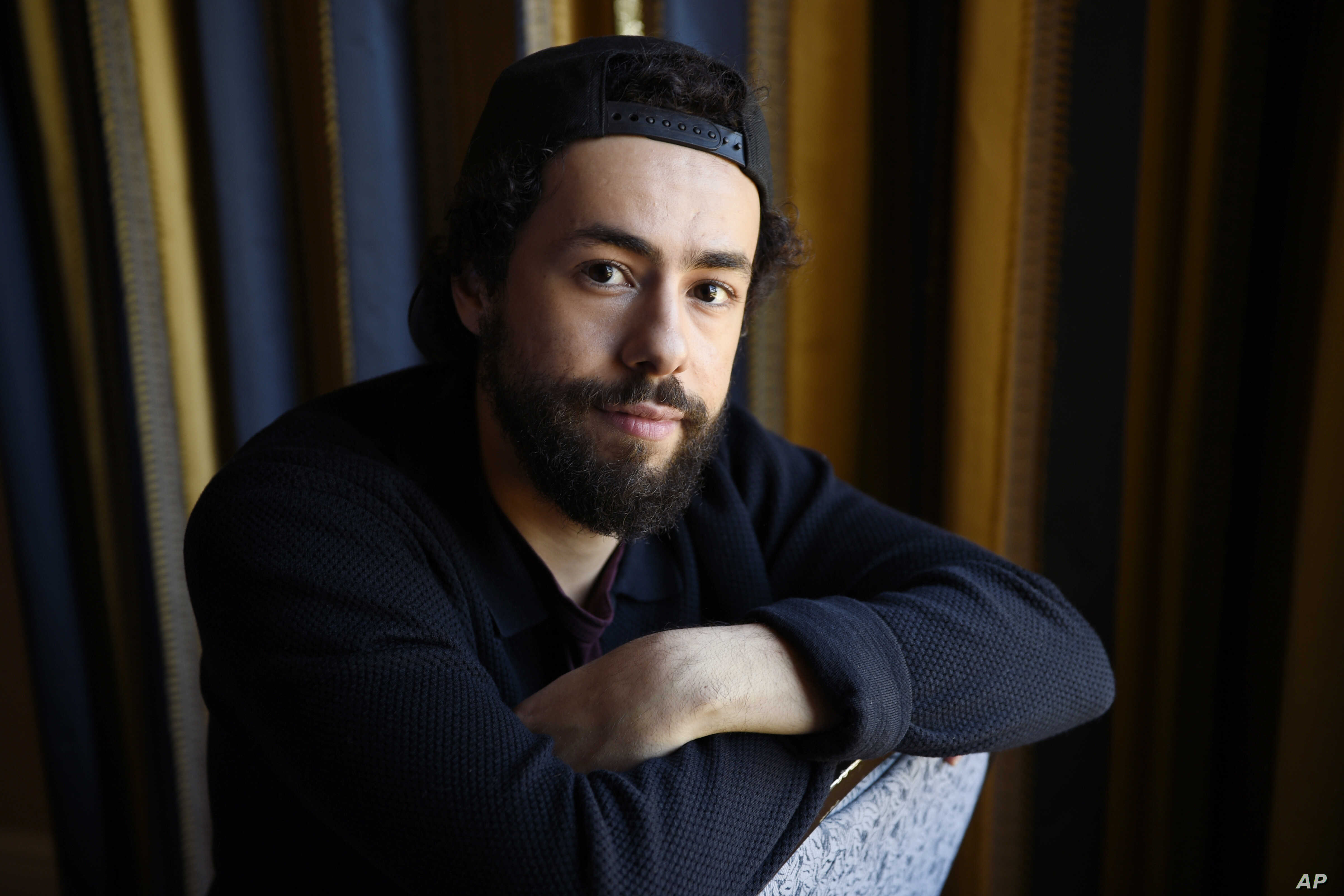 """FILE - Ramy Youssef, star of the Hulu series """"Ramy,"""" is pictured during the 2019 Winter Television Critics Association Press Tour, Feb. 11, 2019, in Pasadena, Calif."""