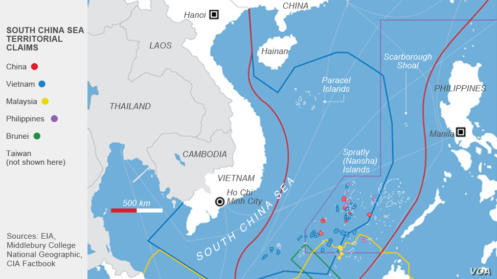 US Concerned over China's 'Interference' in South China Sea ... on caspian sea, bay of bengal, arabian sea, sea of japan, map of red sea area, map of baltic sea area, yangtze river, map of caspian sea area, south china sea islands, map of east china sea area, red sea, yellow sea, gobi desert, map of aegean sea area, map of barents sea area, indian ocean, caribbean sea, mediterranean sea, black sea, east china sea, yellow river, map of china and oceans, scarborough shoal, map of eastern sea, map of india and china sea, paracel islands, strait of malacca, spratly islands, map of black sea area, map of adriatic sea area,