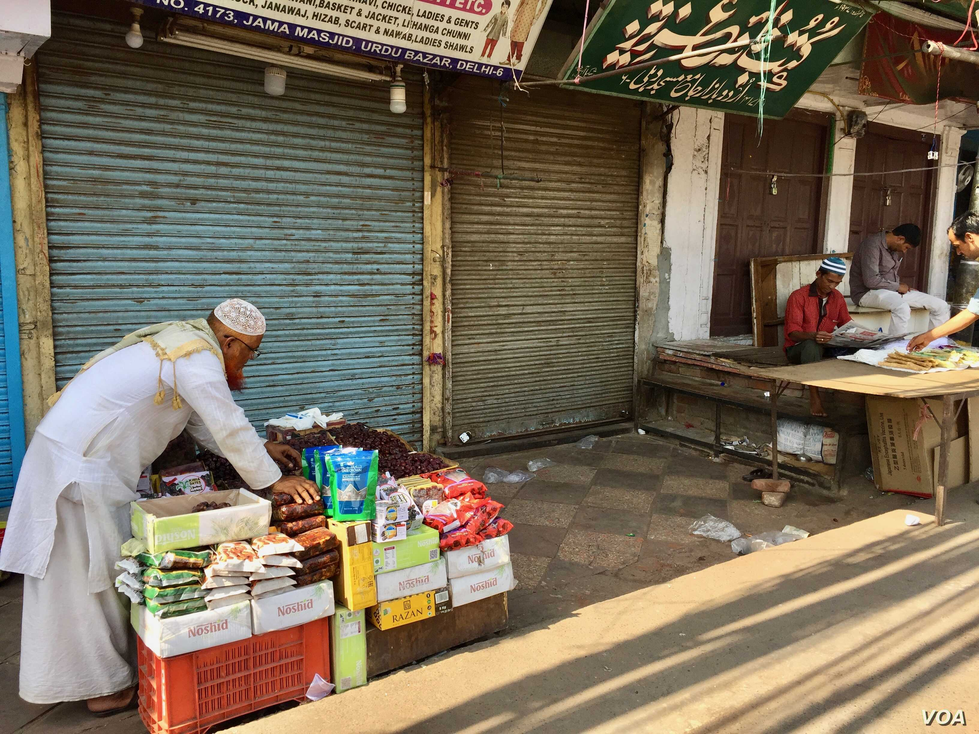 Some arrive early morning to set up roadside stalls hoping to catch customers as they emerge after prayers at the mosque.