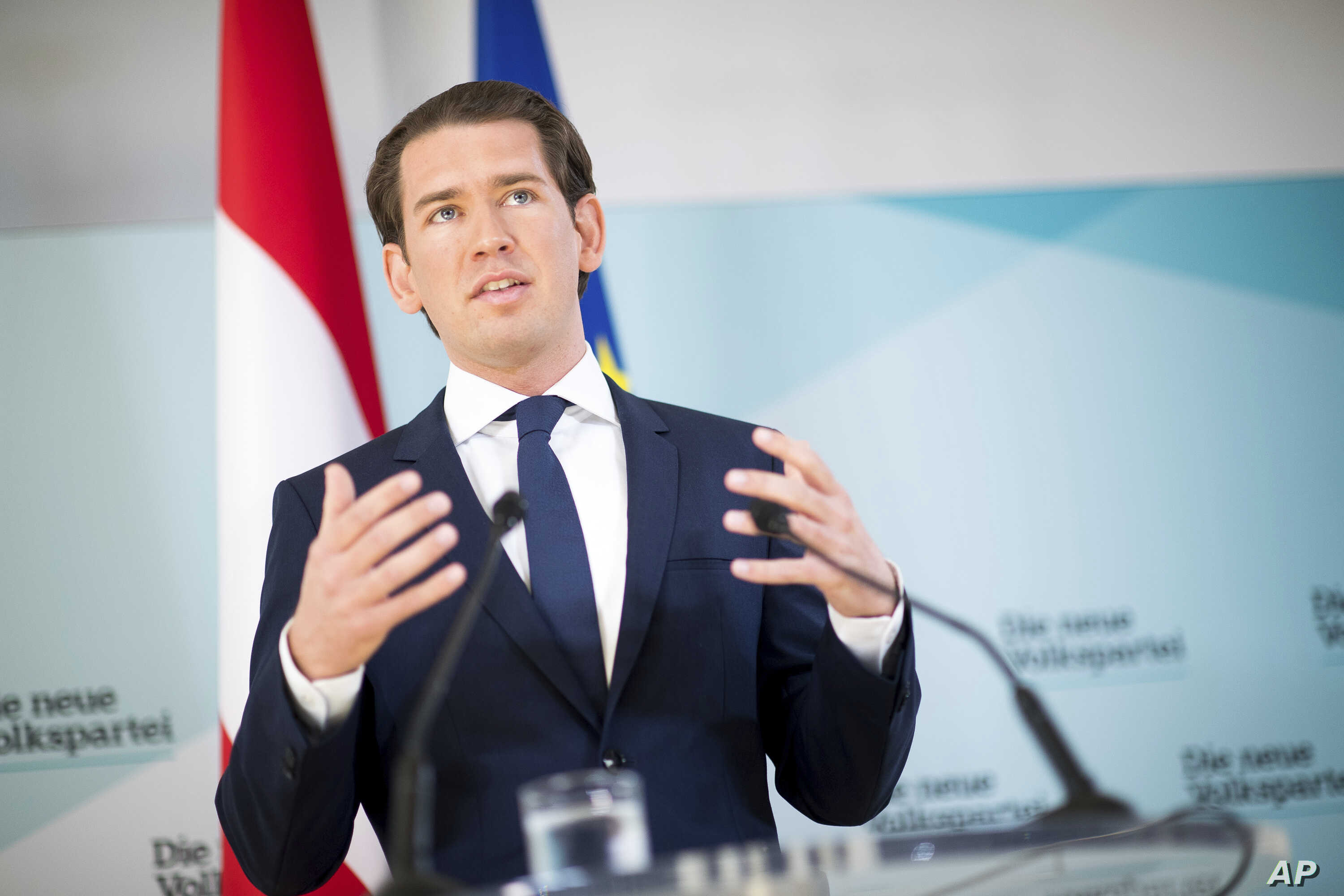 Austrian Chancellor Sebastian Kurz, of the Austrian People's Party, addresses the media during a news conference in Vienna, Austria, May 20, 2019.