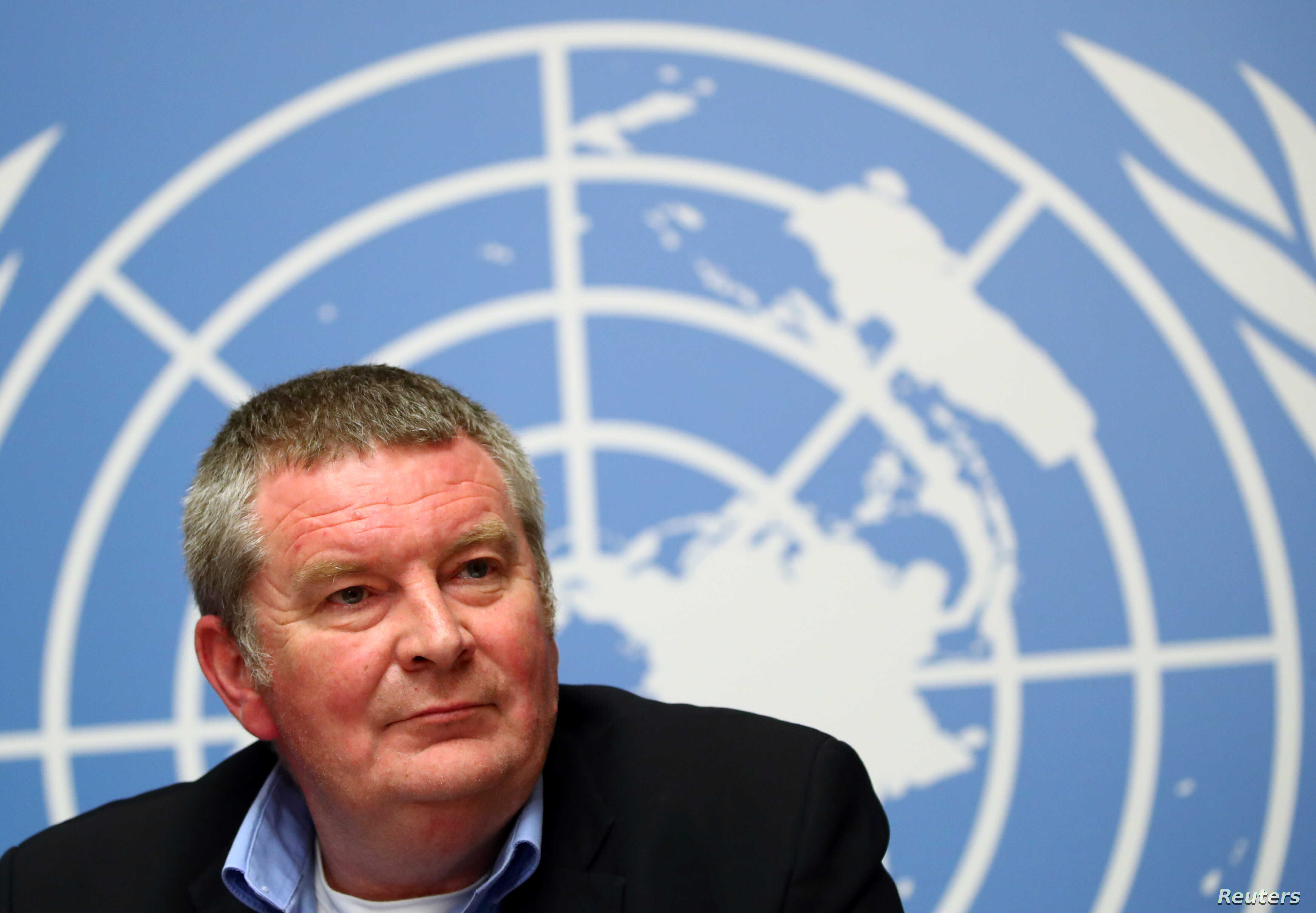Mike Ryan, executive director of the World Health Organization, attends a news conference on the Ebola outbreak in the Democratic Republic of Congo at the United Nations in Geneva, May 3, 2019.