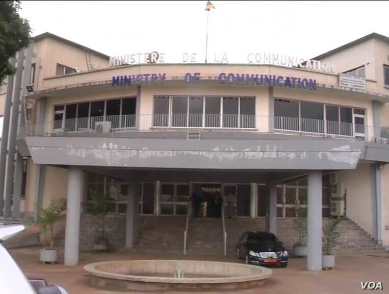 Cameroon ministry of communication located in Yaounde, Cameroon. May 2, 2019 ( M.Kindzeka/VOA)