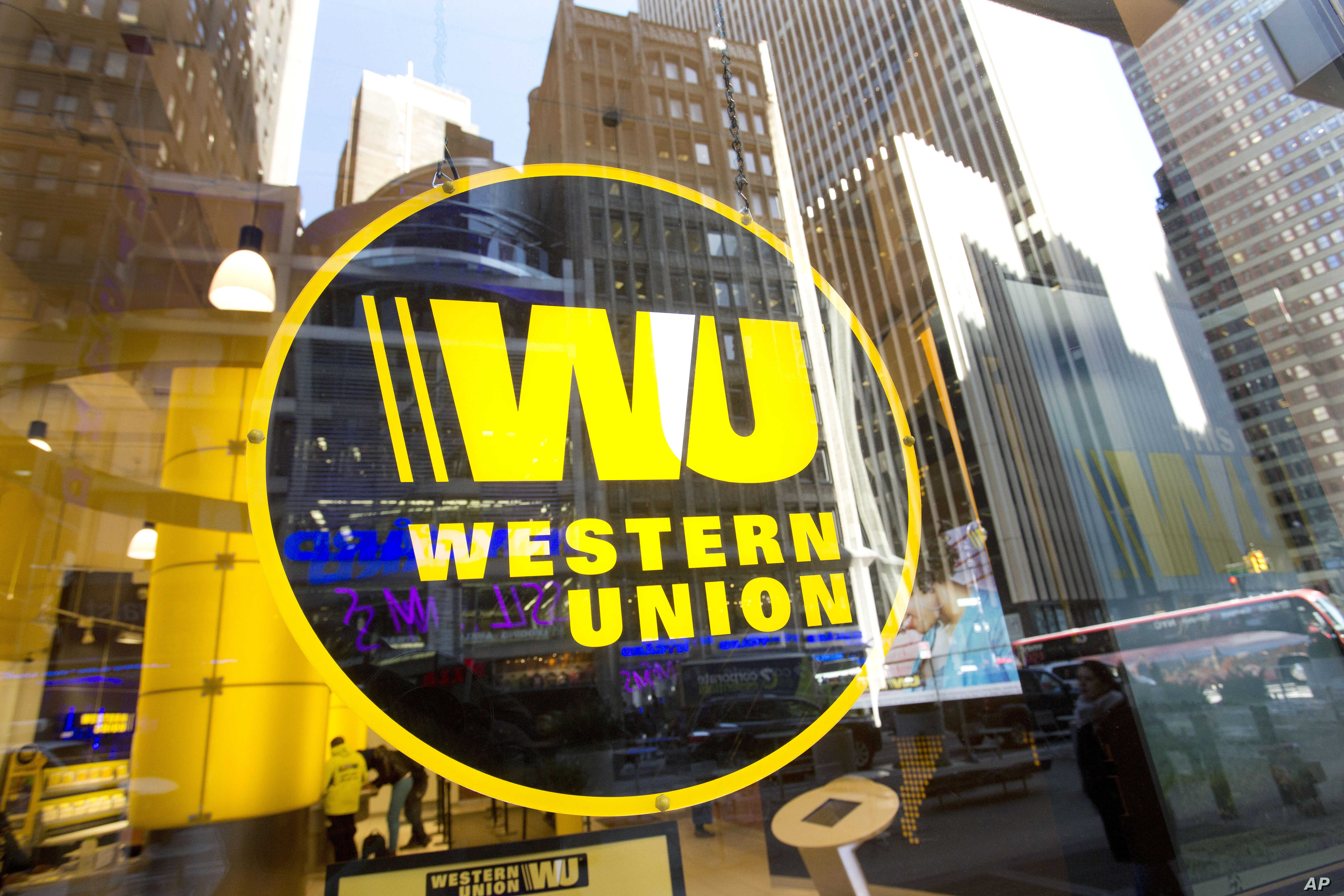 A Western Union store in New York, April 5, 2016.  in New York. Late last year the Burma Campaign UK pressure group published a list of 49 foreign companies it said were doing business with the military or implicated in rights abuses in Myanmar.