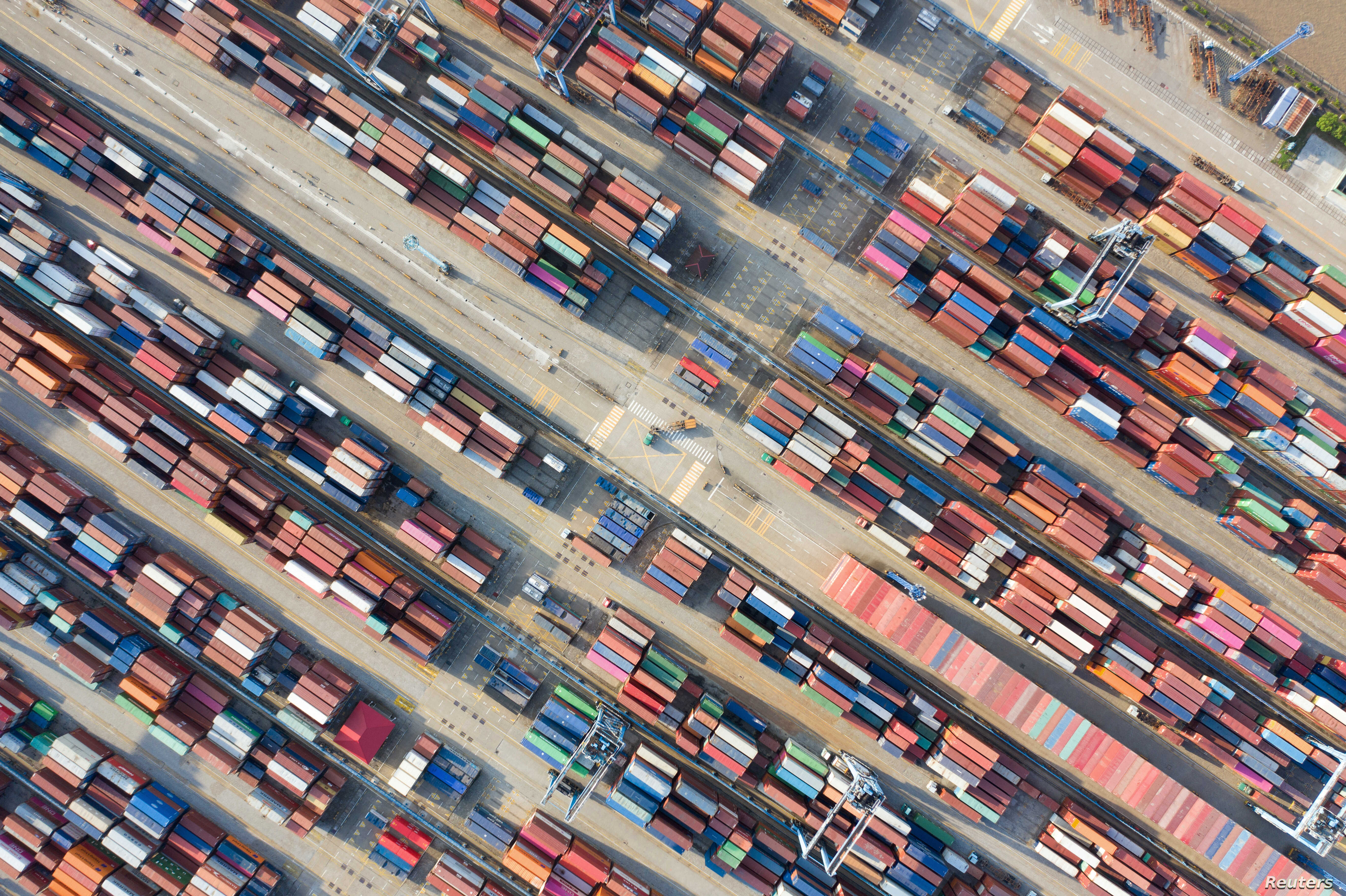 Containers are seen at a port in Ningbo, Zhejiang province, China, May 28, 2019.