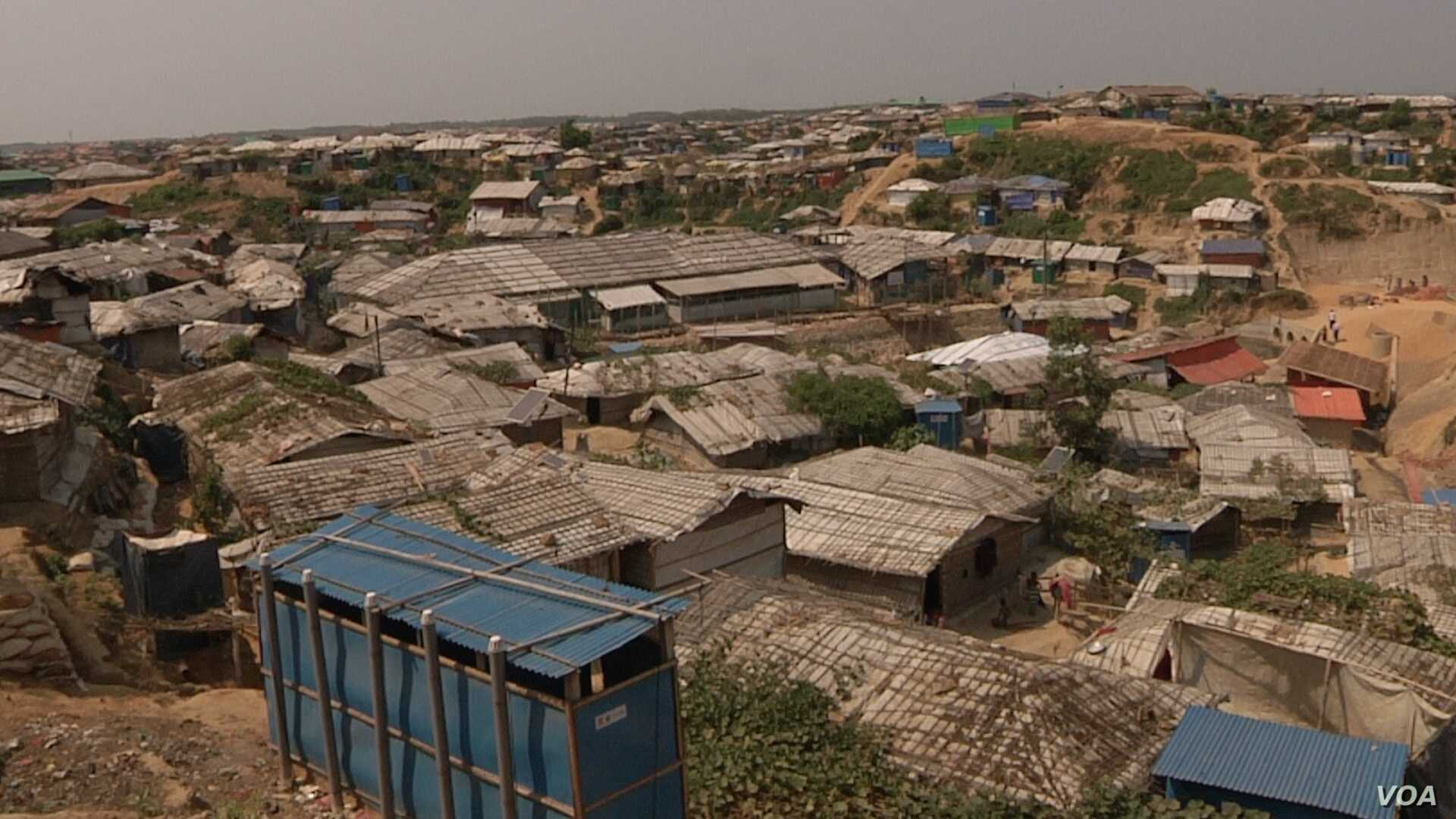 The Rohingya refugee camps are essentially unplanned cities. Shelters and toilets were often set up without appropriate planning. Aid groups are trying to retroactively put in proper drainage and stabilize slopes.