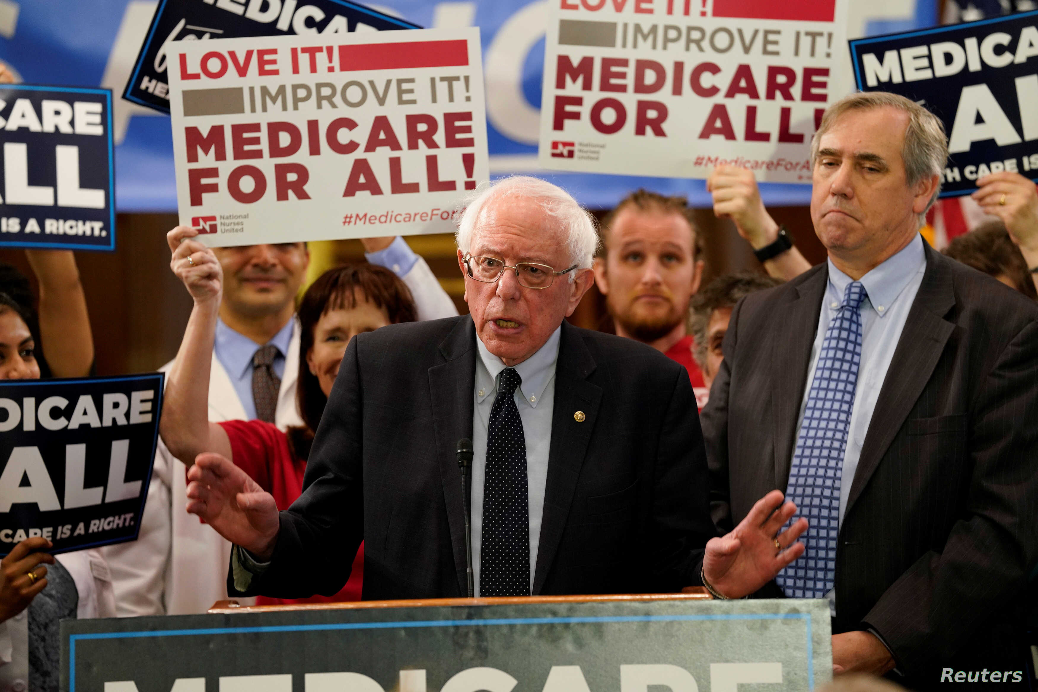 Democrats Are Spotlighting Big >> Sanders Unveils Medicare For All Bill Backed By 2020 Rivals
