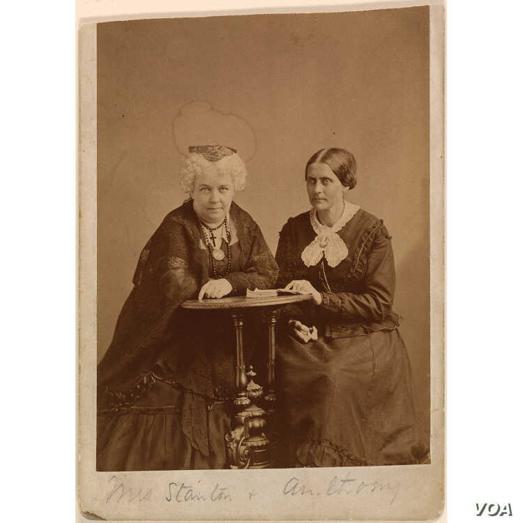 Elizabeth Cady Stanton (L) worked closely with her friend Susan B. Anthony (R) for over 50 years to win women the right to vote.