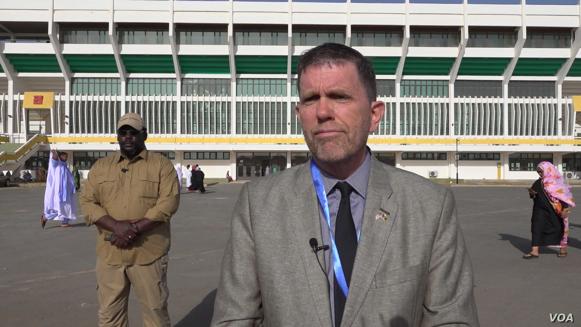 U.S. Ambassador to Mauritania Michael Dodman and his team observed various polling stations throughout the capital on Saturday (