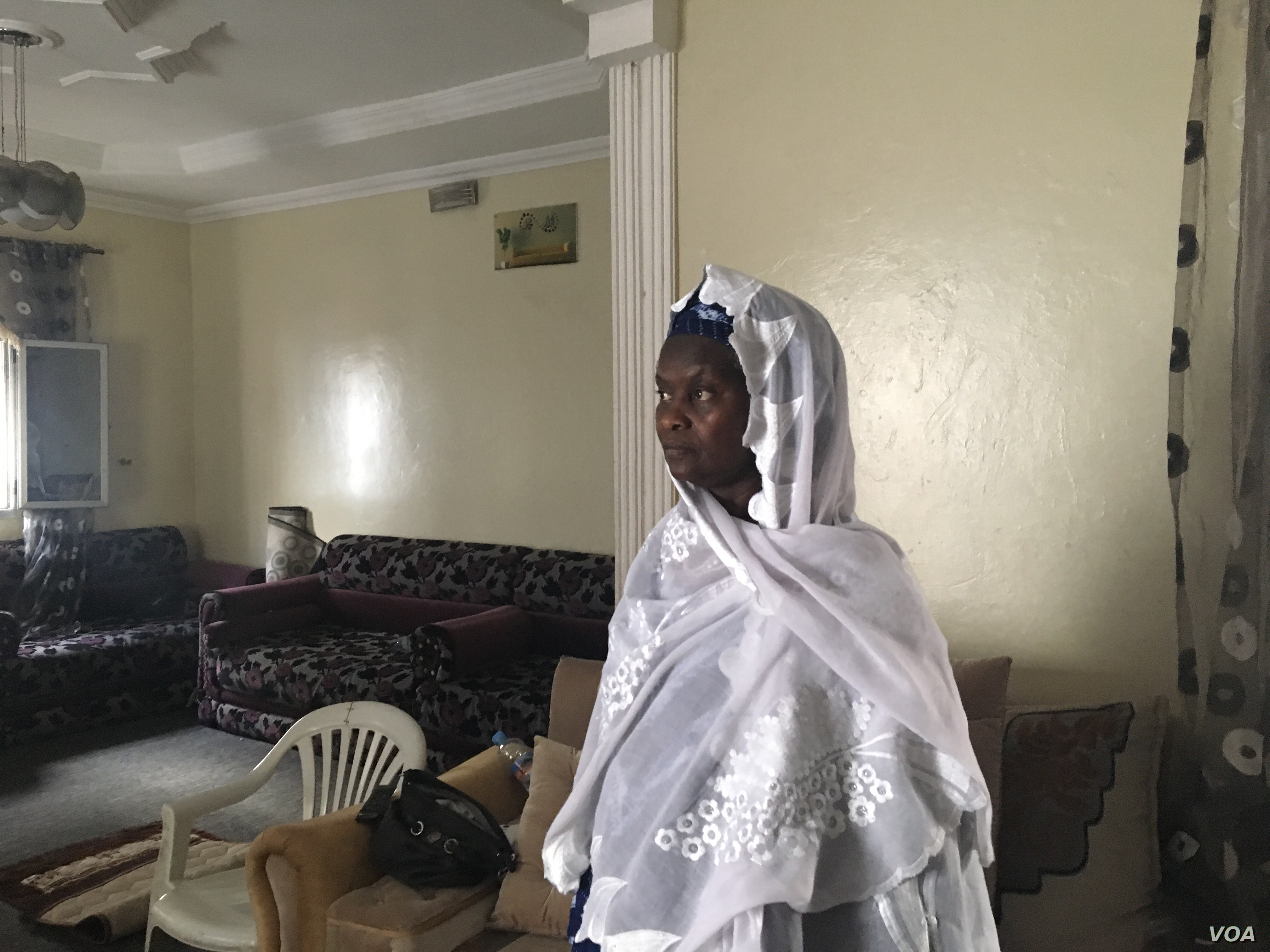 Fatimata M'Baye, Mkahitir's lawyer, says she has not been allowed to speak with her client. (E. Sarai/VOA)