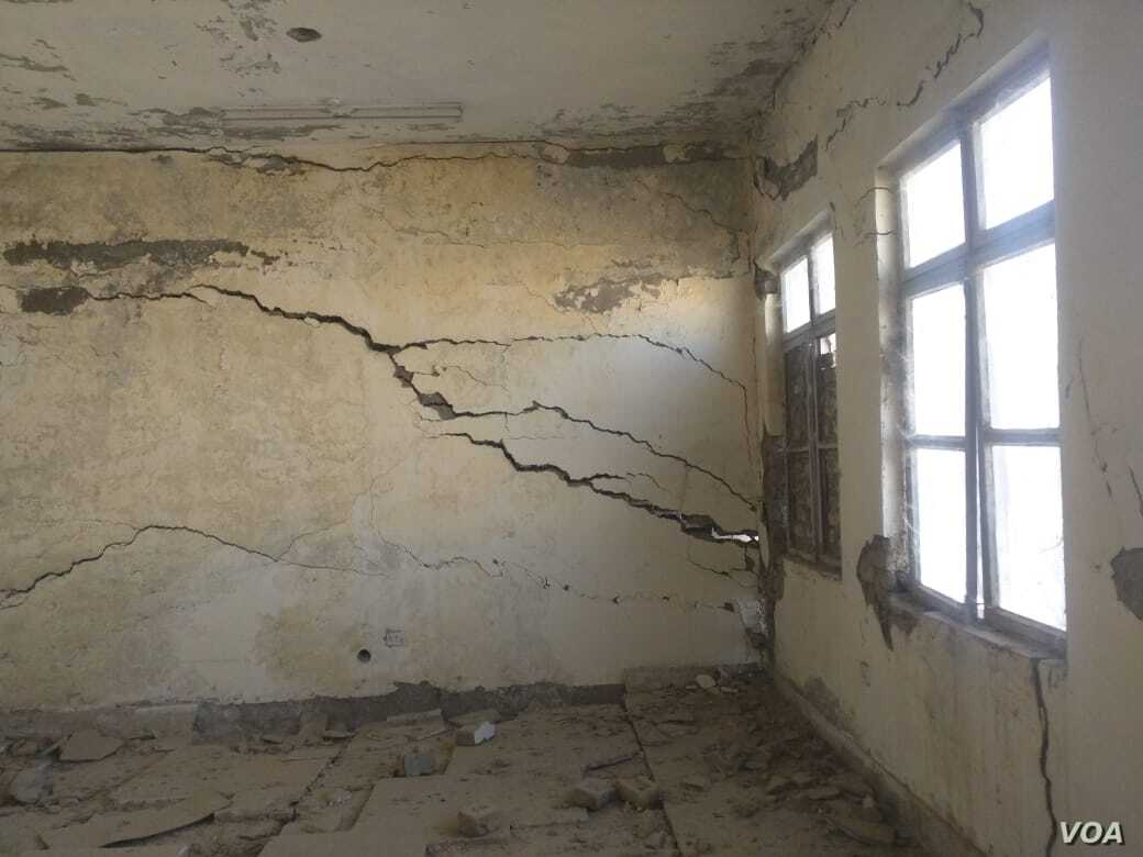A school building crumbles in Quetta, in Pakistan's Baluchistan province. (Photos courtesy of University of Baluchistan)