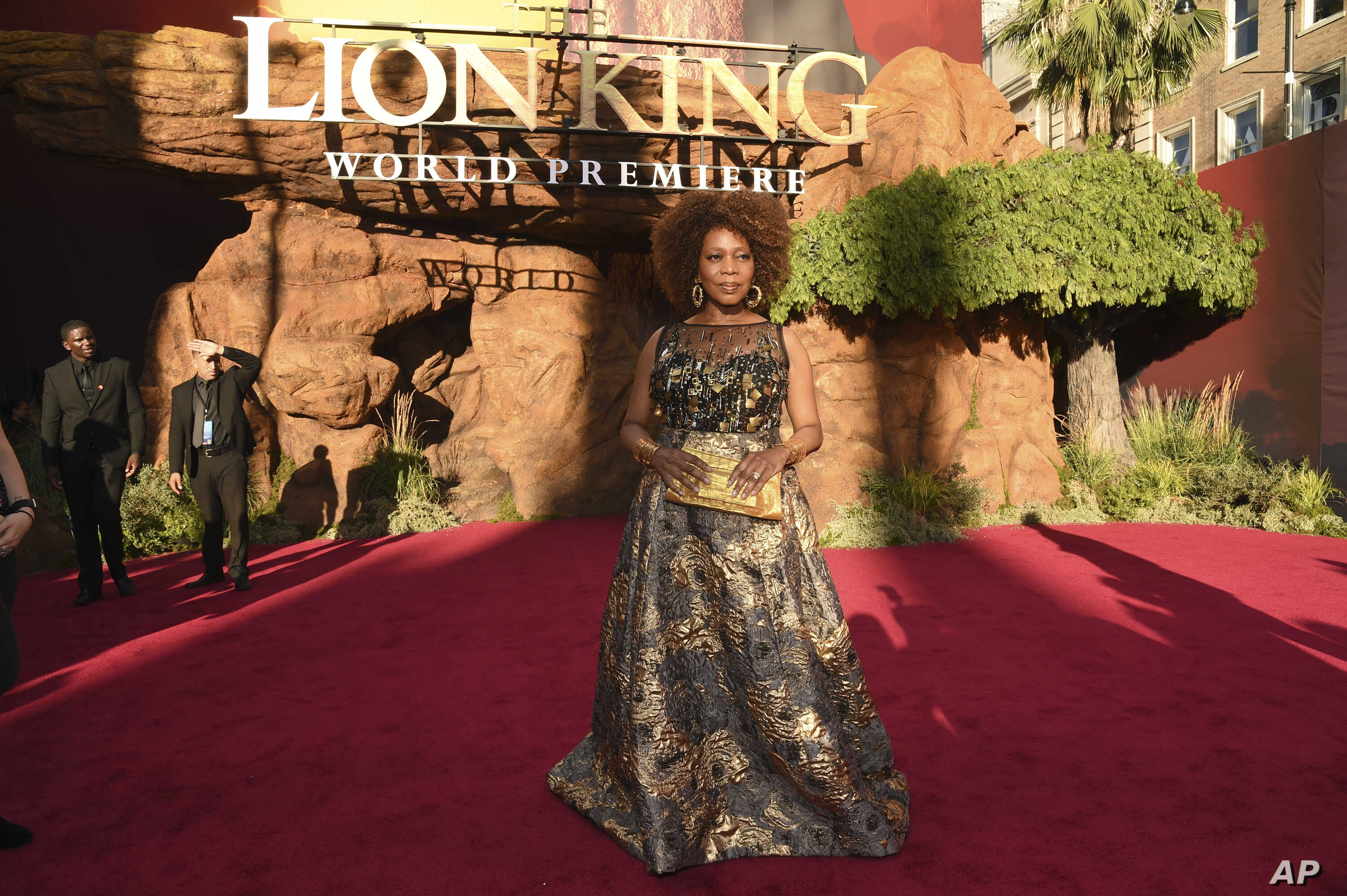 """FILE - Alfre Woodard arrives at the world premiere of """"The Lion King"""" at the Dolby Theatre in Los Angeles, July 9, 2019."""