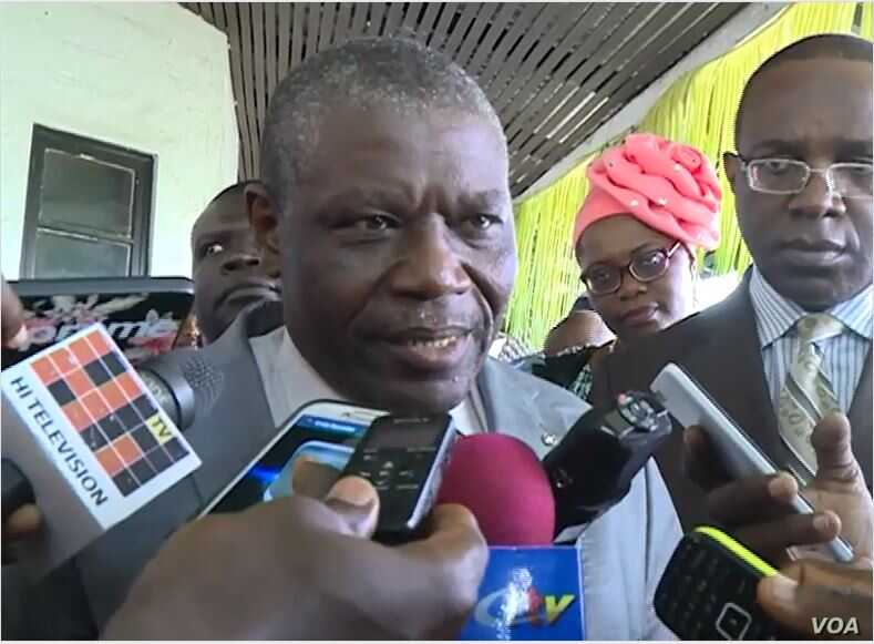 Cameroon Agriculture minister Gabriel Mbairobe, Buea, Cameroon, July 18, 2019. ( M. Kindzeka, VOA)