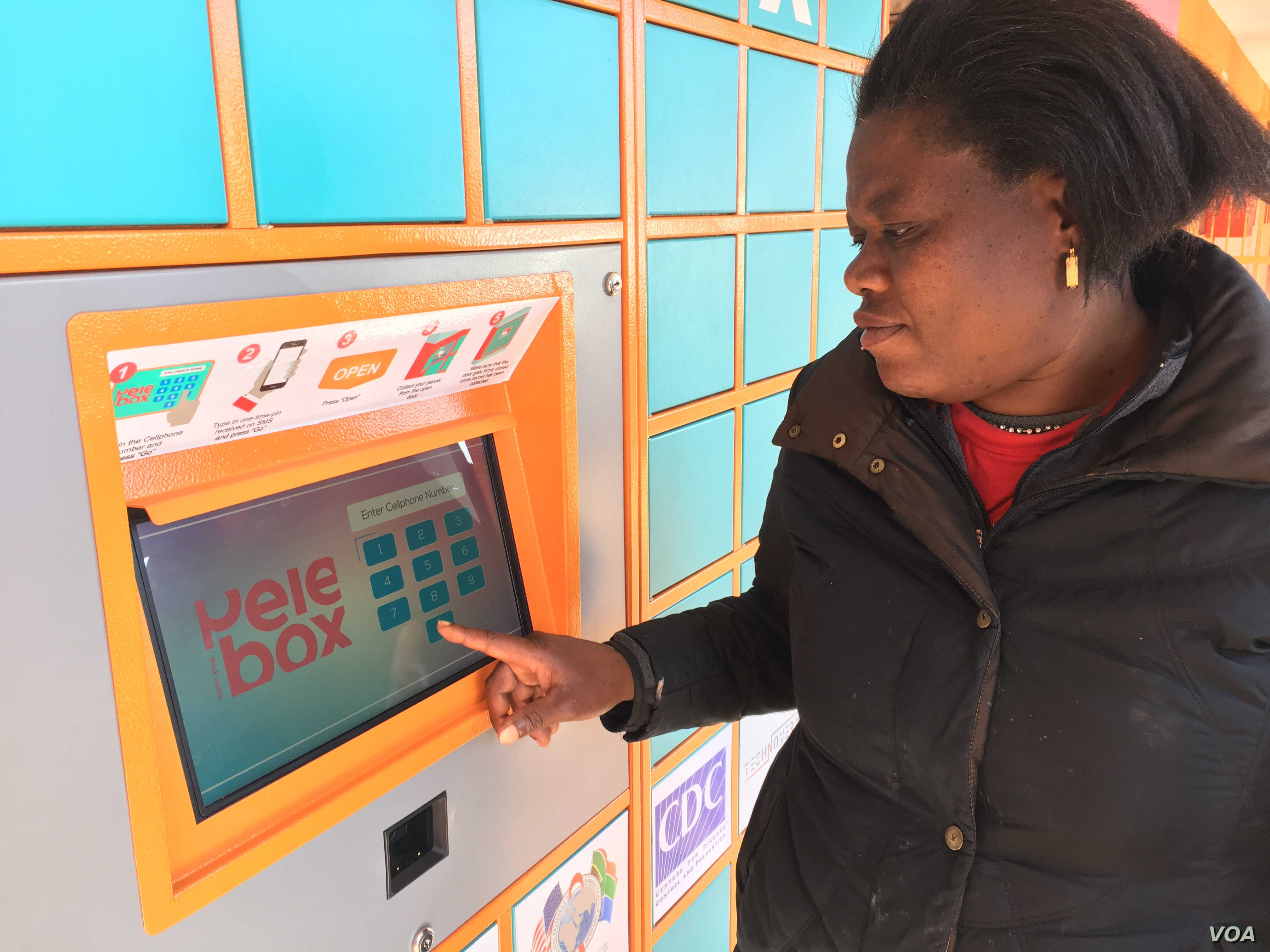 Jenifer Shingange, a patient with a chronic illness, says the Pelebox has been a god-sent for her (T. Khumalo/VOA)