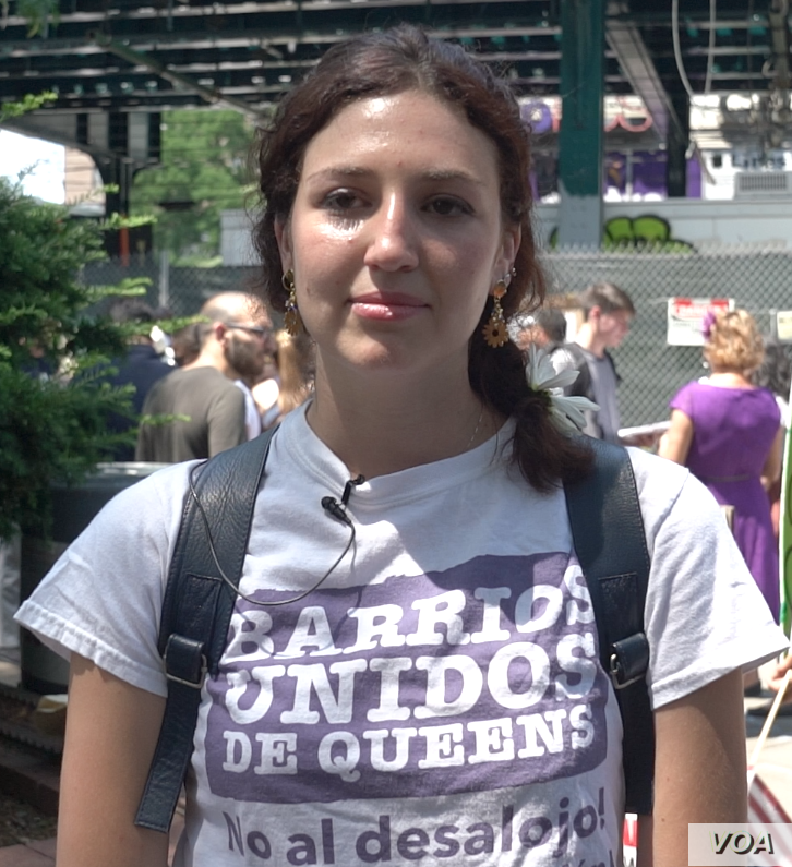 Carina Kaufman-Gutierrez of the group Queens Neighborhoods United.