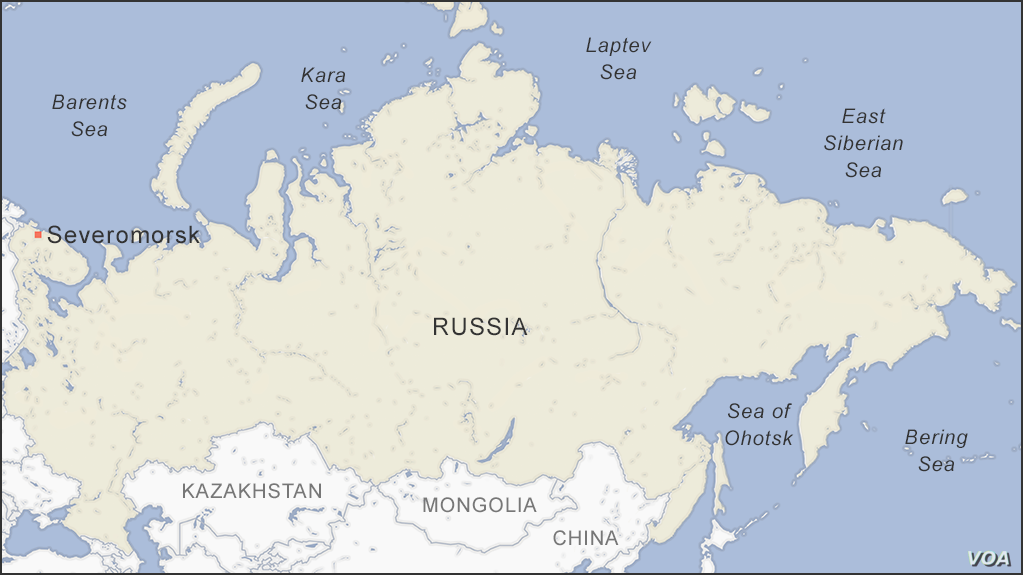 Map of Severomorsk Russia