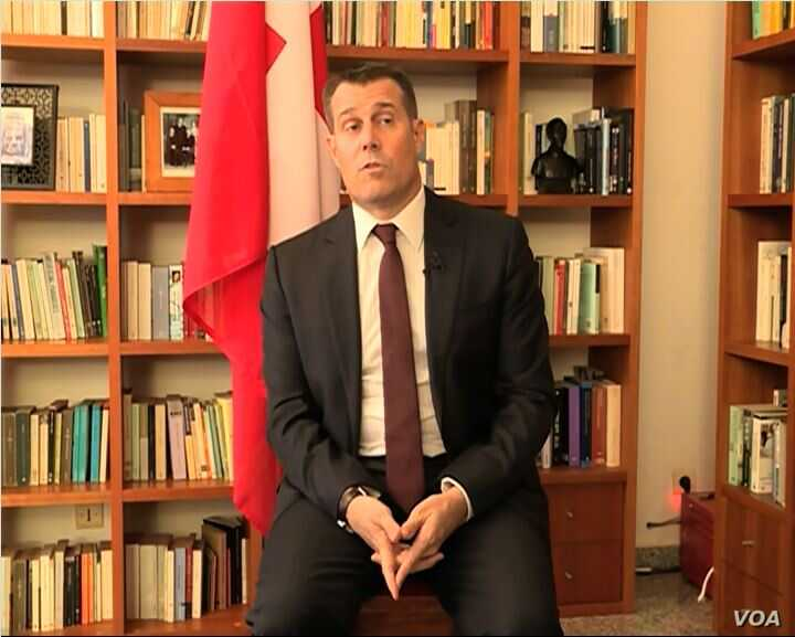 Pietro Lazzeri, Switzerland's ambassador to Cameroon, July 19, 2019. (Moki Kindzeka, VOA)