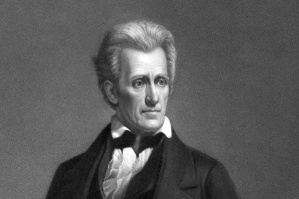Andrew Jackson depicted in an 1860 engraving.  (Library of Congress)