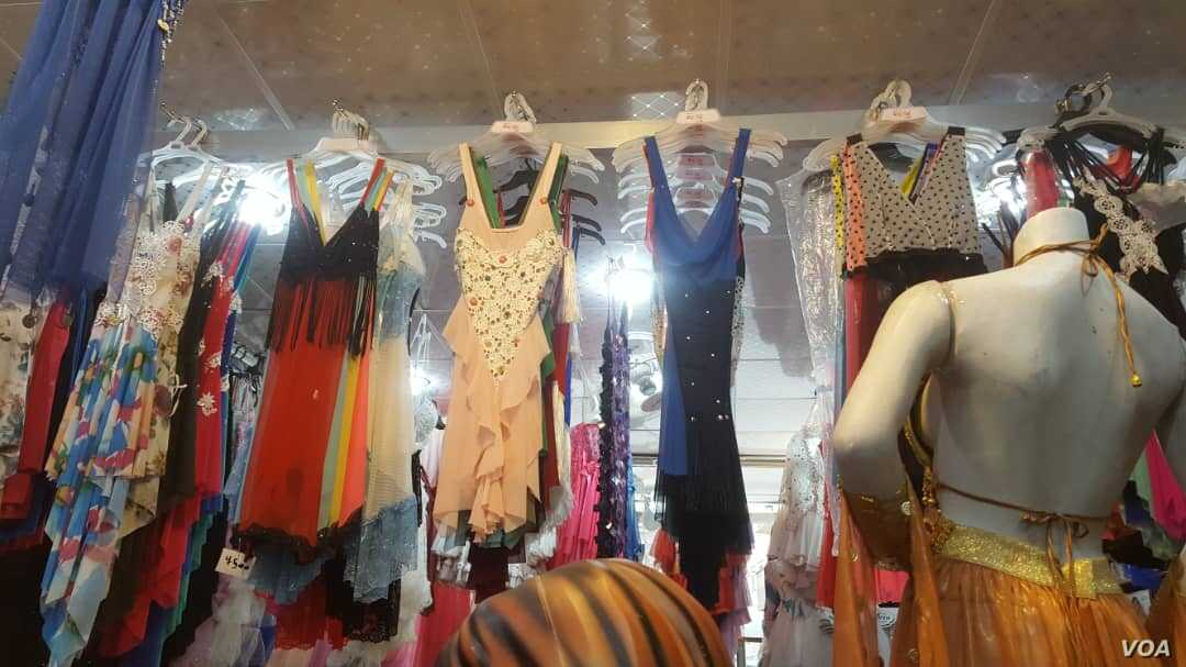 Women clothes displayed at a shopping mall in Raqqa, Syria. July 11, 2019 (Courtesy photo: Anya Ahmad)