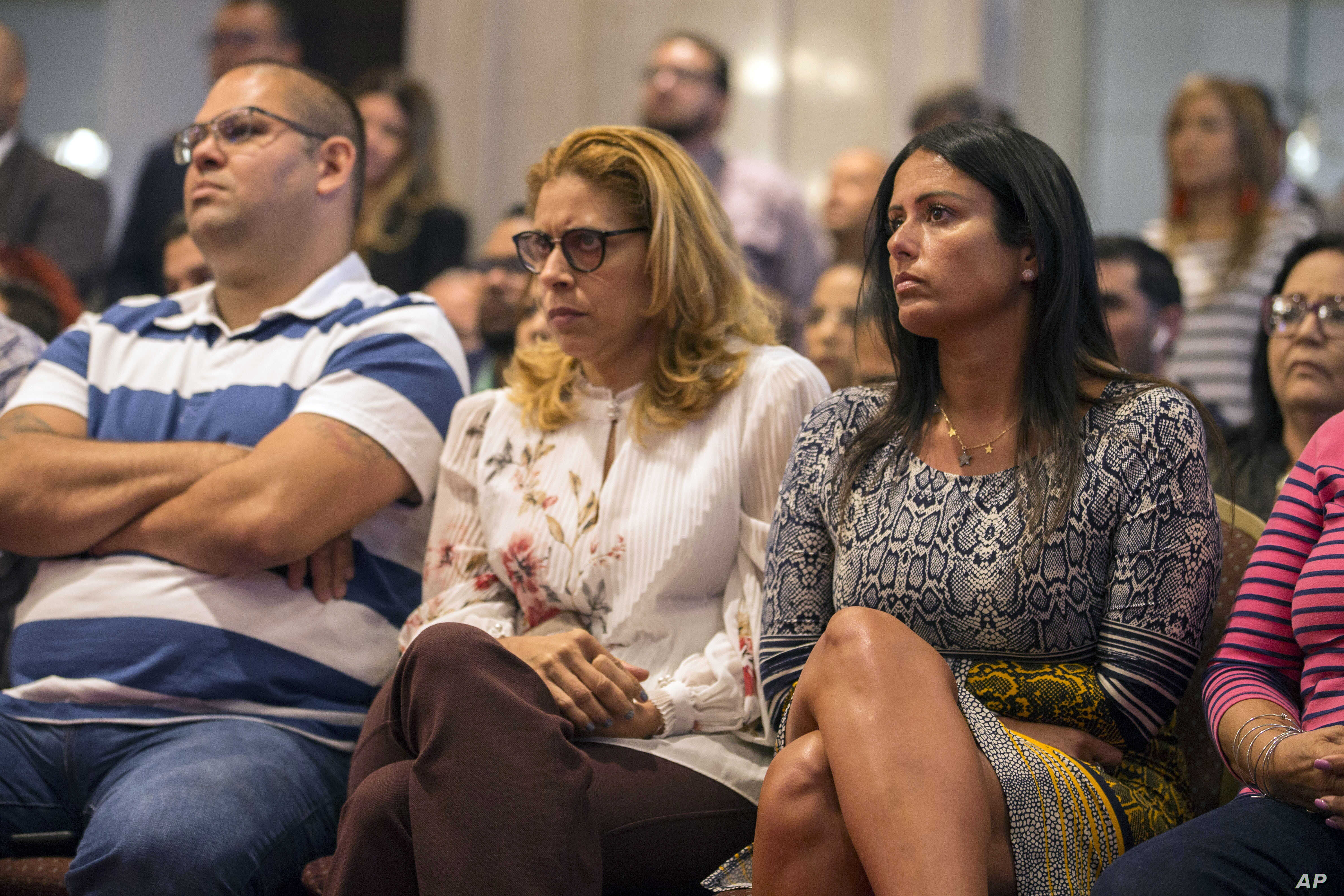 Citizens attend Pedro Pierluisi's confirmation hearing at the House of Representatives, in San Juan, Puerto Rico, Aug. 2019.