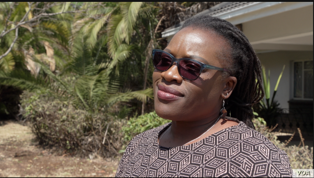 Ratidzai Moyo, a program manager at children's rights group Childline Zimbabwe says her organization has noted an increase in the number of youngsters being forced into working to survive. (C. Mavhunga/VOA)