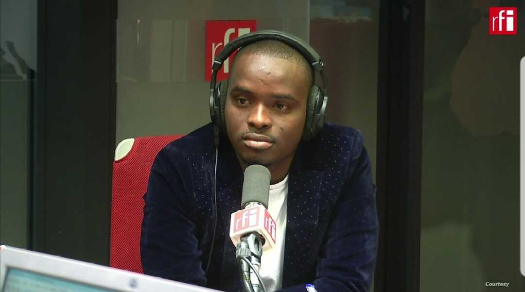 Loop Haiti journalist Luckson Saint Vil on the air