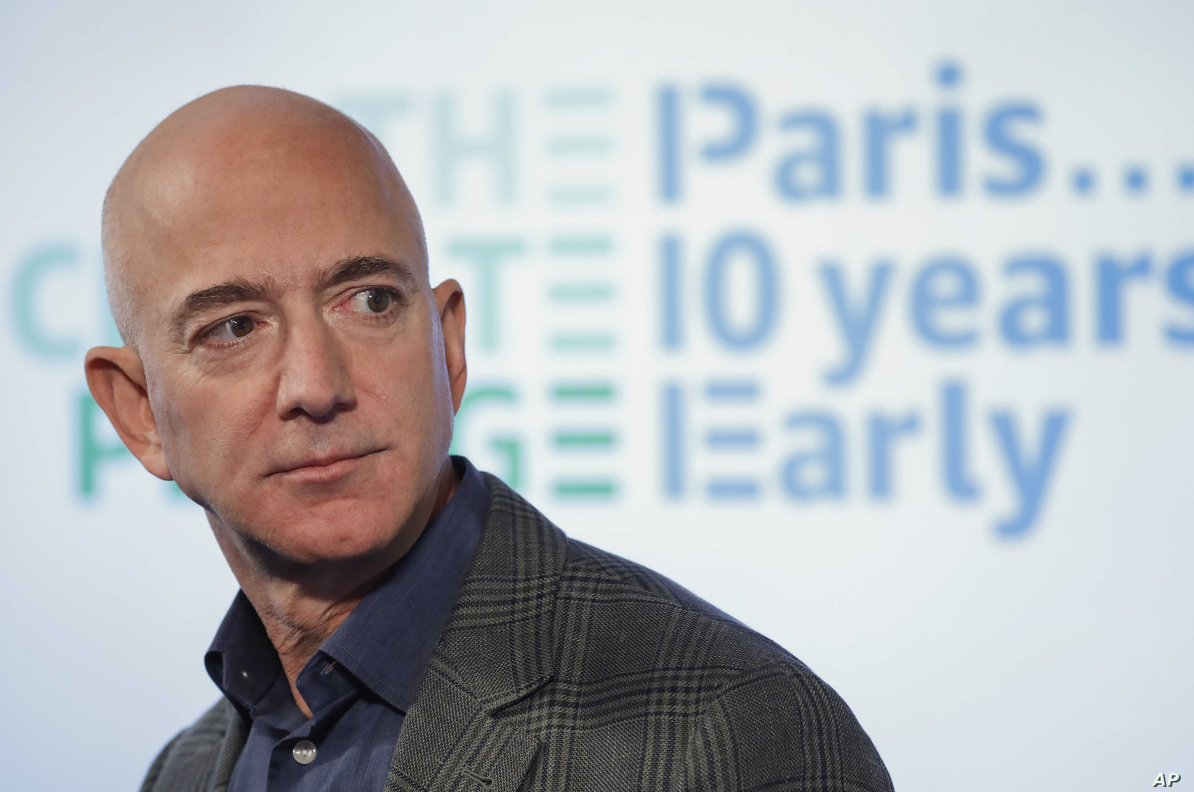 Amazon's Jeff Bezos announces new climate change pledge