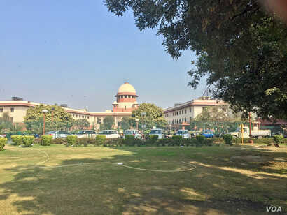 "The Supreme Court begins a landmark hearing on Thursday to decide the legality of the Muslim divorce practice known as ""triple talaq"" which is allowed by Muslim family law in India. (Photo: A. Pasricha/VOA)"