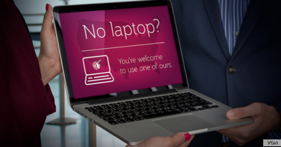 Qatar Airways is offering free loaner laptops to its business class passengers in the wake of a US ban on certain electronic devices. (Qatar Airways)