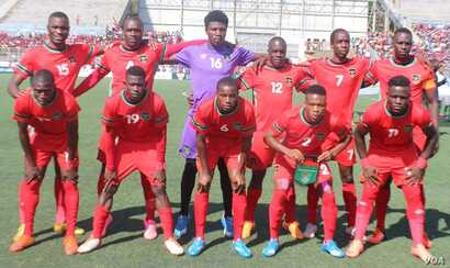 The Malawi national football team (Photo courtesy of Patrick Lunda)