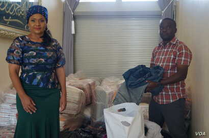 Abida Mia operates Reach Out and Touch from her home in Blantyre, Malawi, where donated items are stored.