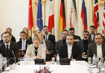 Joint Comprehensive Plan of Action (JCPOA), the Joint Commission are pictured during its first meeting at the level of Political Directors on Oct. 19, 2015 at Palais Cobourg in Vienna.