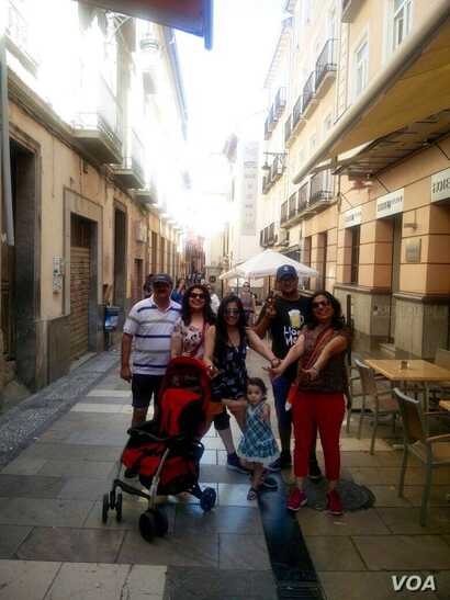 Manasi Chadha (in center) holidaying in Granada, Spain with her family.