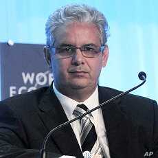 Morocco's Minister of Economic and General Affairs Nizar Baraka attends a session of the World Economic Forum on the Middle East and North Africa (MENA) in Marrakesh (File Photo)