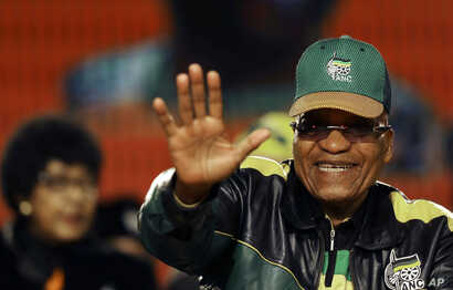 South Africa's ruling party president Jacob Zuma, waves during the African National Congress policy conference in Johannesburg, South Africa, June 30, 2017.