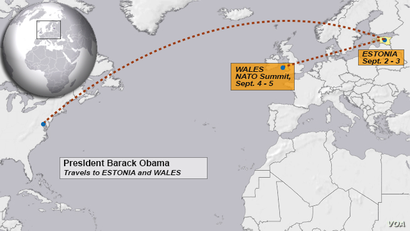 President Obama travels to Estonia and Wales, Sept. 2014
