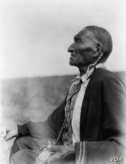 """This 1924 photo by Edward S. Curtis is entitled """"Cheyenne Peyote Leader.""""  Courtesy: Library of Congress."""