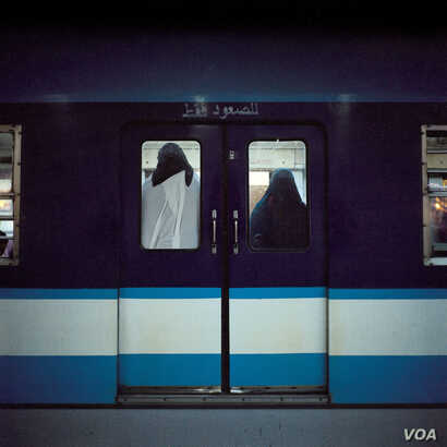 """Rana El Nemr, Metro (#7), from the series """"The Metro,"""" 2003; Pigment print, 39 3/8 x 39 3/8 in.; Museum of Fine Arts, Boston; Museum purchase with general funds and the Abbott Lawrence Fund, 2013.569 (Photo © 2015 Museum of Fine Arts, Boston)"""