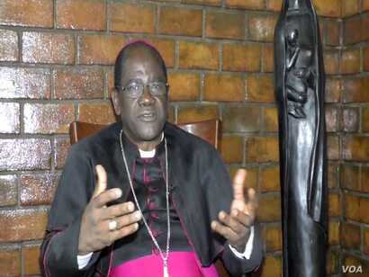 Archbishop Jean Mbarga of Yaounde at his residence in Yaounde, Cameroon, Oct. 28, 2018.