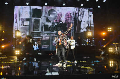 Recording Artist Macklemore appears on stage as WeWork presents Creator Awards Global Finals at the Theater at Madison Square Garden on Jan. 17, 2018 in New York City.