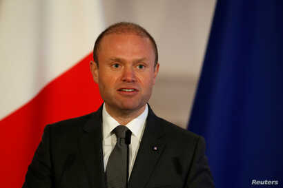 Malta's Prime Minister Joseph Muscat addresses a press conference at his office in Valletta, Malta, Jan. 9, 2019.