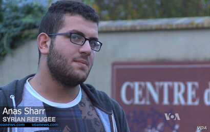 Aleppo native Anas Sharr fled war-shattered Syria a few months ago and is among the first batch of 30,000 mostly Syrian refugees the French government says it will take in over the next two years.
