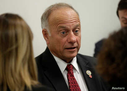 Rep. Steve King, R-Iowa, speaks to reporters about DACA and immigration legislation on Capitol Hill in Washington, Sept. 6, 2017.