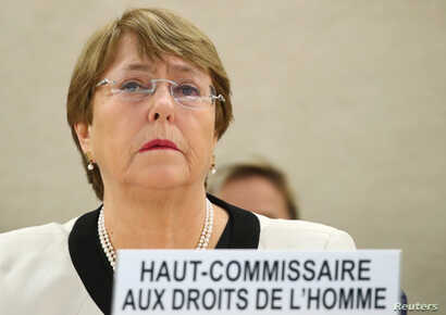U.N. High Commissioner for Human Rights Michelle Bachelet attends a session of the Human Rights Council at the United Nations in Geneva, Switzerland, March 6, 2019.