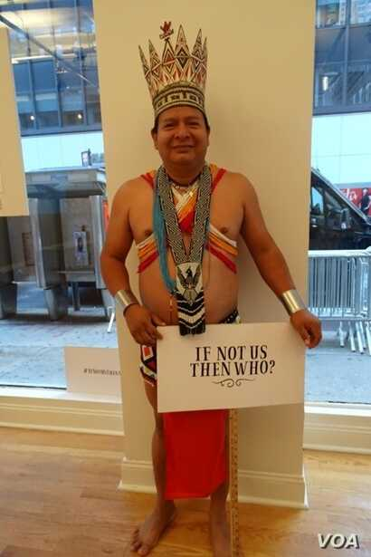 Candido Mezua, the president of the Embera-Wounaan General Congress, which includes about 10,000 people living in the tropical rainforests of Panama, has fought for land rights for his people most of his life. (Victor Lopez-Illescas)