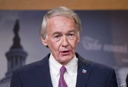 Sen. Edward Markey, D-Mass., speaks during a news conference on opioid and heroin abuse, Feb. 11, 2016, on Capitol Hill in Washington.