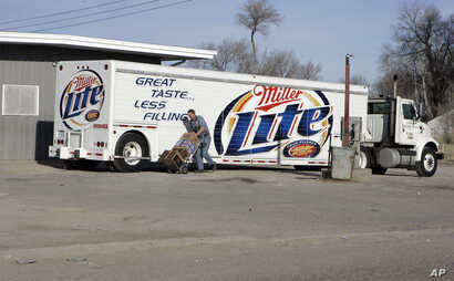 FILE -  This photo from March 6, 2006 shows a shipment of beer being delivered to a store in Whiteclay, Neb.